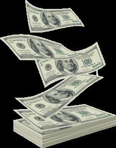 stack of cash in US dollars money