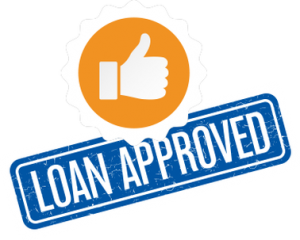 Loan approved thumbs up sign